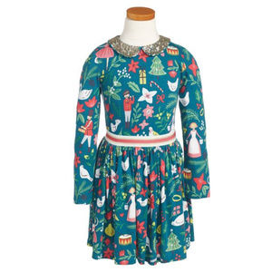 Mini Boden '12 Days of Christmas' Dress (3-4Y)